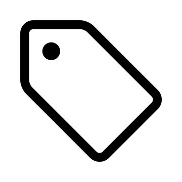 Hangtag / hang tag label line art icon for apps and websites