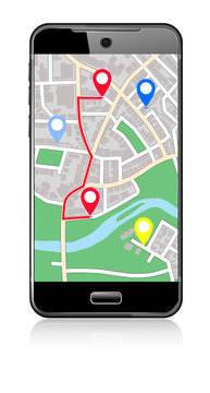 Phone Map -  Pointer Icon Cell Smart Mobile