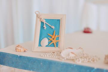 Рамка для фотографии в морском стиле