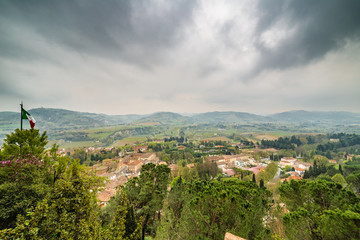 panorama of the medieval village
