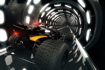 Hot-Rod in tunnel