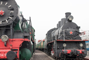 Two soviet stream locomotive