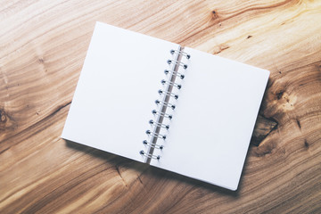 Blank white notepad top