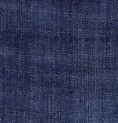 Blue Jeans Denim Texture.  Dark Background