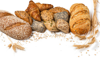 Different bread and seeds