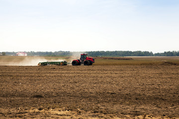plowed for crop land