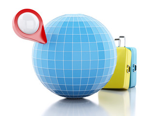 3D map pointer and globe.