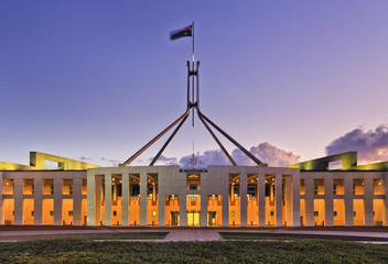 CAN Parliament Facade Set close
