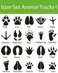 Icon Set Animal Tracks I
