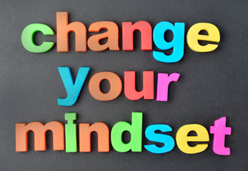 Change your mindset words on background