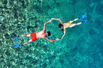 Couple snorkeling in Thailand