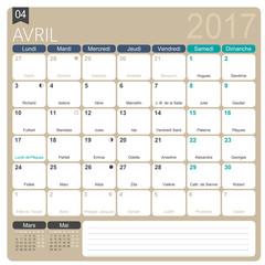 August 2017 French Calendar – 2017 calendars
