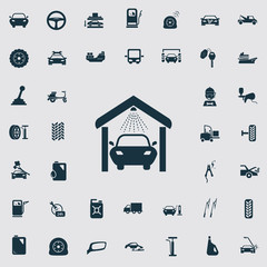 Set of forty transport and car service icons