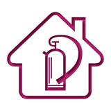 logo maison et extincteur stock image and royalty free. Black Bedroom Furniture Sets. Home Design Ideas