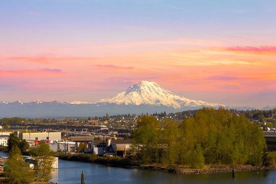 Mount Rainier from Tacoma Marina