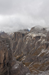 Italy, Dolomites, Sass Pordoi is one of the most visited mountains of the Dolomites.
