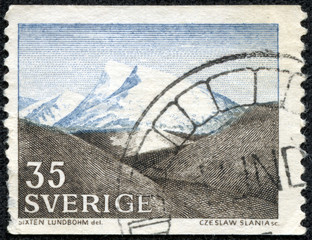 stamp printed by Sweden, shows The Fjeld by Sixten Lundbohm
