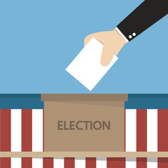 flat style illustration of election day, vector