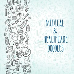 medicine doodle background