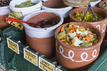 Local food in Chania, Crete, Greece