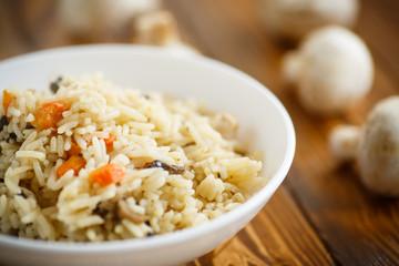 dietary pilaf with mushrooms
