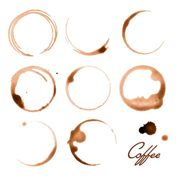 Vector Illustration of Coffee Cup Stains