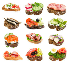 Set of small sandwiches