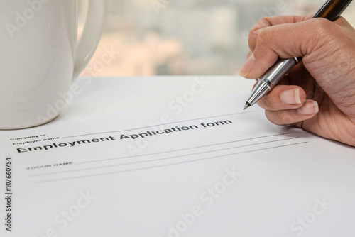 writing employment application form stock photo and royalty free