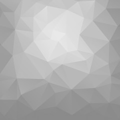Abstract white and grey polygonal background.