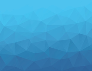 Vector abstract blue polygonal background.