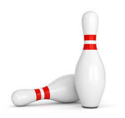Two bowling pins