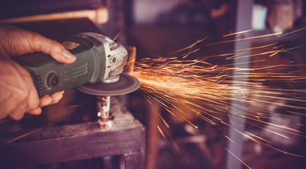 master of welding seams angle grinder Wall mural