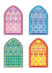 Stained glass window stencils