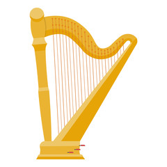 Harp vector illustration. harp isolated on white background