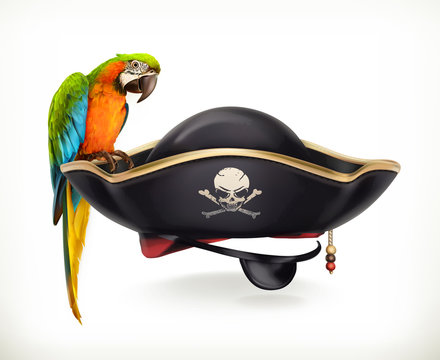 Pirate hat, vector icon