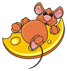 mouse, rat, rodent, pest, animal, isolated, toy, piece, cartoon, brown, pet, cheese, fat, ate, burst