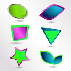 Set of frames. Set of  icons.