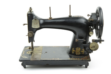 vintage sewing machine /portrait of a old italian sewing machine
