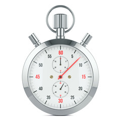 Stopwatch timer, contdown. Isolated on white background 3d