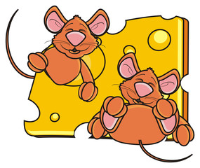 hug, hold, sleep, piece, look out, hang around, mouse, rat, rodent, pest, animal, isolated, toy, piece, cartoon, brown, pet, cheese, 2, two, couple, happy, kind, funny