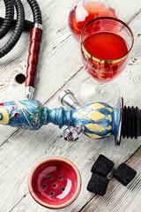 Hookah and wine
