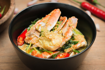 Stirred Fried crab in yellow curry