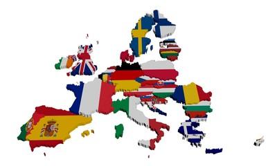 Europe Drapeaux isolé