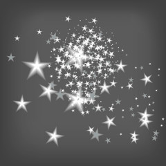 scattering of sparkling white stars