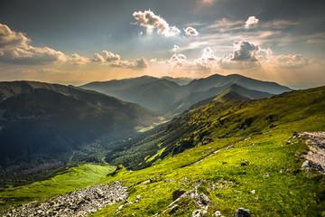 Fototapeta View from Kasprowy Wierch Summit in the Polish Tatra Mountains obraz