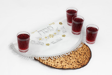 Four glasses of wine for Passover