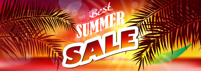Summer sale banner background vector