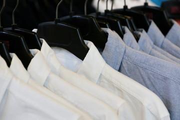 men shirt in shop