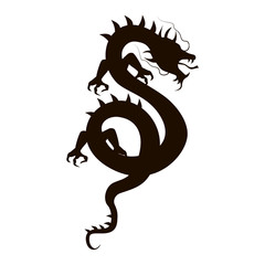 Chinese dragon silhouette