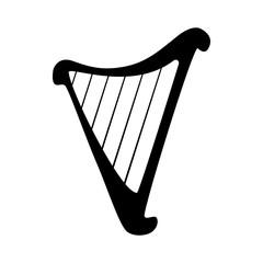 Harp silhouette icon